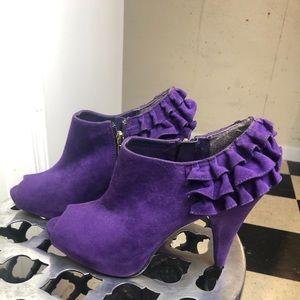 Peep toe ankle heels